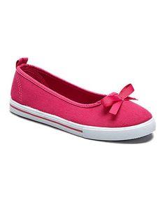 Look what I found on #zulily! Fuchsia Bow Slip-On Sneaker #zulilyfinds