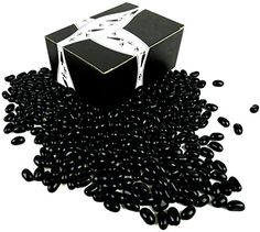 Gourmet Black Licorice Jelly Beans by Cuckoo Luckoo Confections, 2 lb Bag in a BlackTie Box – Gourmet Gifts Gourmet Candy, Gourmet Gifts, Gourmet Recipes, Gourmet Jelly Beans, Black Licorice, Candy Gifts, Chocolate Gifts, Candy Dishes, Easter Eggs