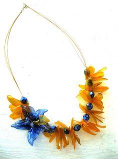 Jewelry from plastic bottles in plastics jewelry  with Upcycled Reused Recycled Plastic Jewelry