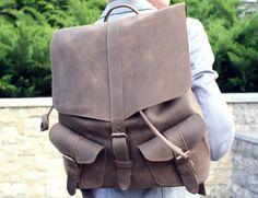 Envío gratis Mochila mochila de cuero bolso por ArtLeatherDesign