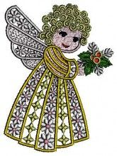 Angel In Christmas - Machine Embroidery Designs