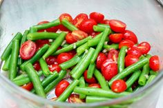 Simple and delicious - green bean and tomato salad