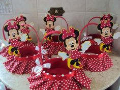 Canasta minnie mouse | Mickey Mouse fiesta | Pinterest