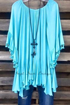Spice Up Your Life Tunic - Blue - Sassybling - Tunic - Angel Heart Boutique