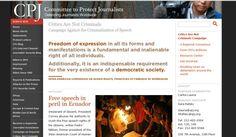 """""""Los (periodistas) críticos no son criminales"""""""