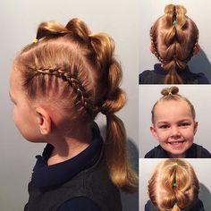 💁🏼 Best way to start the week is with #mohawkmondays 😜 #rainbowbands for #schoolhair #braids #dutchbraids #girlhairstyles #littlegirls #littlegirlshair #daughter #punkgirl #mohawkbraids #mohawk #whynot #school #braidstyles #pinterest #inspirationhair #hairinspiration