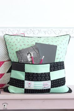 How to sew a pocket pillow or book pillow for machine embroidery