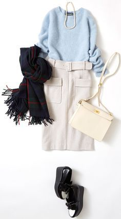 Week's Lesson: Coordination on New Year's and New Year's Parties (Lumine Ikebukuro) Office Fashion, Work Fashion, Modest Fashion, Skirt Fashion, Fashion Outfits, Womens Fashion, Fashion Trends, Fashion Fashion, Winter Stil