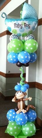 Cute Baby Shower Balloon Decor - you could do this in all types of cute themes! #decoracionbabyshowerboy