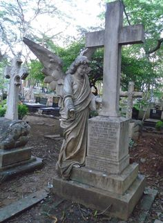 Sewri Christian Cemetery in Mumbai is not to be missed - beautiful sculptures, peace and quite is a pleasant change to the busy streets of the city. In Mumbai, Bustle, Cemetery, Garden Sculpture, Sculptures, Christian, Peace, Street, City