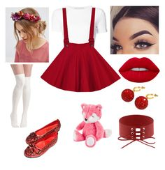 This would be cute for a red riding hood theme Kawaii Fashion, Cute Fashion, Fashion Looks, Fashion Outfits, Teen Fashion, Fashion Ideas, Classy Outfits, Outfits For Teens, Cool Outfits