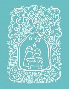 Christmas Nativity Printable and other adorable printables!