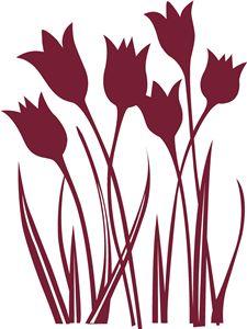 Hero Arts Tulips cutting file