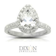 Custom Diamond Engagement Rings Portfolio l Dixon Jewellers Canadian Diamonds, Halo Diamond Engagement Ring, Pear, Bling, Jewels, Jewel, Jewerly, Gemstones, Fine Jewelry