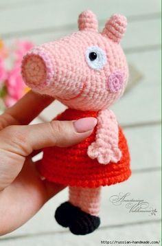 Вязание крючком маленькой свинки ПЕППИ (Вязаные игрушки)   Журнал Вдохновение Рукодельницы