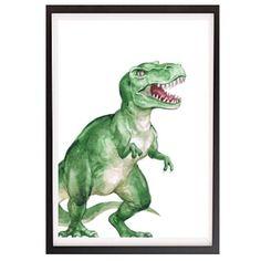 Watercolour Rex WALL PRINT