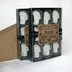 The Original Sugar Cube Skulls  two boxes of nine by dembones, $17.00