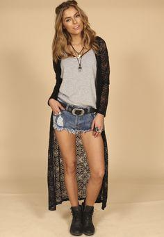Kimono Black Lace » Blusas