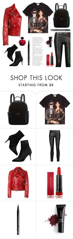 """""""Gucci top"""" by gul07 ❤ liked on Polyvore featuring Calvin Klein, Gucci, J Brand, Dsquared2, Max Factor, NYX, Inglot and Bobbi Brown Cosmetics"""