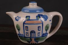 Country Scene, Blue Teapot, M.A. Hadley by dinaandpartners on Etsy