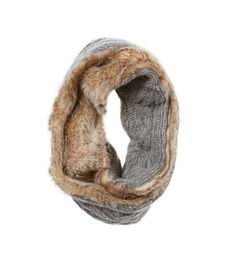 Cable Knit - Fur Lined Snood