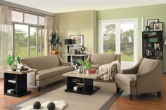 Amazon.com: 3pc Transitional Modern Fabric Sofa Set, HE-0004-S1: Furniture & Decor