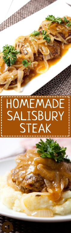 Homemade Salisbury Steak: Made without soup packets and just good ingredients, this is the salisbury steak recipe that will redeem the classic! | macheesmo.com