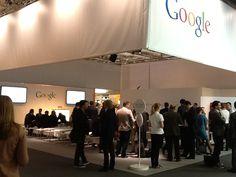 Unser Partner Google hat seinen Messestand gleich nebenan.