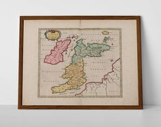 Ptolemaic Map of Old Great Britain, originally created by Willem Janszoon Blaeu, now available as a 'museum quality' historic style print. Map Of Great Britain, Antique Maps, Travel Posters, Vintage World Maps, Museum, Europe, Antiques, Prints, Style