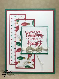 Making Christmas Bright by StampinForMySanity - Cards and Paper Crafts at SplitcoaststampersStamp With Sue PratherIndependent Stampin' Up! Stamped Christmas Cards, Simple Christmas Cards, Homemade Christmas Cards, Xmas Cards, Homemade Cards, Holiday Cards, Christmas Crafts, Christmas Tree, Christmas Music