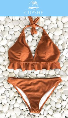 NEW LOOK for your beach trip. Be that girl of sunshine by taking these bikini sets to the beach, you will always be the eye-catcher. Start your trip with Cupshe swimsuits, and be radiant in a simple way!