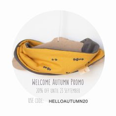 On the 23rd of September we welcome back autumn. I'm running a promo on my etsy shop for the next 10 days. Use promo code HELLOAUTUMN20 at checkout to get 20% discount of your order (exc. post). Promotion ends on 23 September.  #etsyshop #promo #kidsfashion #picopicokids #scarfbib #loop #babyscarf #toddlerscarf