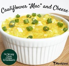 "Cauliflower ""Mac"" and Cheese Yield: 4 servings Per serving: 1 Lean 