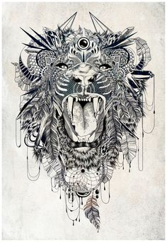 Lion Art Print by Feline Zegers   Society6