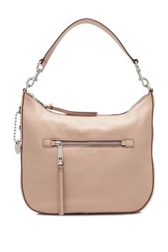 Marc Jacobs Recruit Leather Hobo Bag Nude - MARC JACOBS