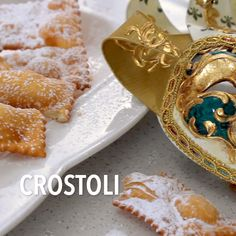 You are going to love this family recipe for Crostoli aka Chiacchiere Napoletane. These Italian ribbon cookies are light, crispy and so addictive! Crostoli Recipe, Best Italian Recipes, Italian Desserts, Italian Dishes, Italian Snacks, Italian Christmas Cookies, Italian Cookies, Cookie Recipes, German Recipes