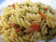 Ricetta Fusilli con tonno, piselli e pomodorino fresco