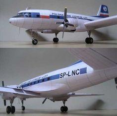 Ilyushin Il-14 Free Airplane Paper Model Download - http://www.papercraftsquare.com/ilyushin-il-14-free-airplane-paper-model-download.html#133, #AirplanePaperModel, #Il14, #Ilyushin, #IlyushinIl14