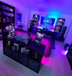 Computer Gaming Room, Gaming Room Setup, Gaming Rooms, Theme Design, Game Room Design, Nerd Room, Gamer Room, Bedroom Setup, Room Ideas Bedroom