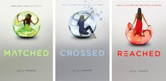 Matched Trilogy by Ally Condie - First was my fave but those covers - I mean, come on!