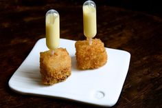 Pork Belly Croquettes with Roasted Corn Cream