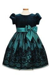 Look at this Jayne Copeland Green & Black Floral Bow Dress - Infant, Toddler & Girls on today! Little Girl Dresses, Girls Dresses, Flower Girl Dresses, Girls Party Dress, Little Girl Fashion, Fashion Kids, Toddler Girl Dresses, Toddler Girls, Infant Toddler