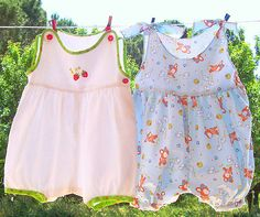TWO Strawberries and Printed Babies' ROMPERs