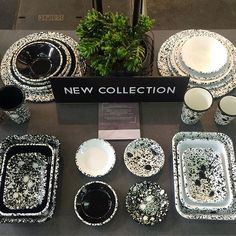 "Come discover our new ""Monochrome"" collection @maisonetobjet we are in Hall 5A - U46 #bornn #bornnenamelware #enamelware #bornn #maisonobjet #maisonobjet2017 #horeca #tableware #glamping #monochrome #blackandwhite"