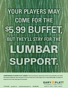 "Gary Platt Chairs ""Got Your Back"" Campaign Ad - ""Lumbar Support"""