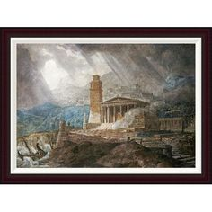 Global Gallery A Capriccio of a Roman Port During a Storm by Joseph Michael Gandy Framed Painting Print Size: