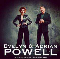 Rebecca Wisocky and Tom Irwin aka Evelyn and Adrian Powell