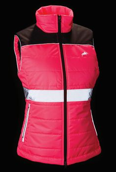 Hi Viz, quilted down like gilet with reflective prints!