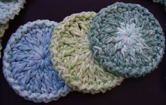 24 Facial Scrubbies   100% Cotton by aStateOfGrace on Etsy