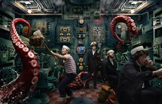 """20,000 Leagues Under the Sea"" concept from emerging Australian artist, Dean West  via Adobe Inspire Magazine"